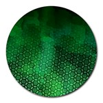 Ombre Green Abstract Forest Round Mousepads Front