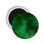 Ombre Green Abstract Forest 2.25  Magnets Front