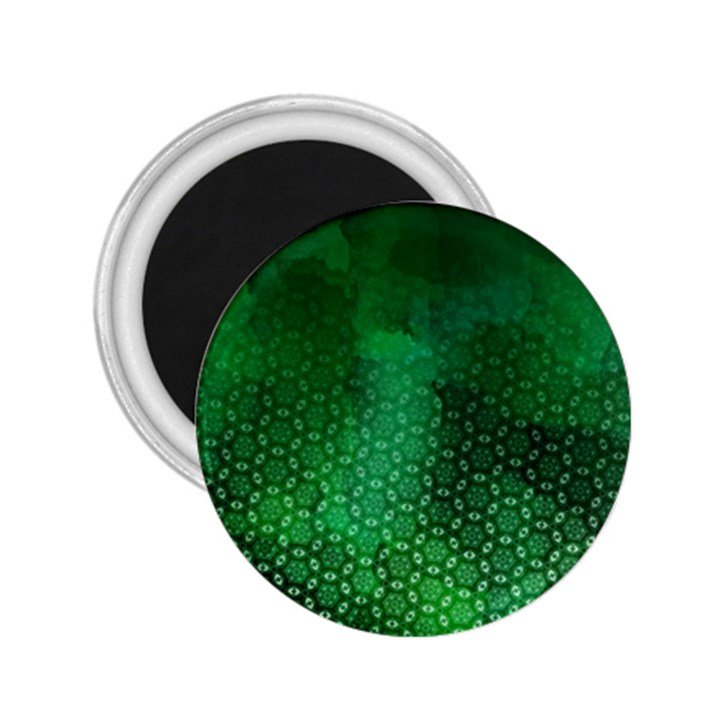 Ombre Green Abstract Forest 2.25  Magnets
