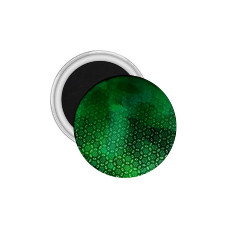 Ombre Green Abstract Forest 1.75  Magnets