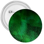 Ombre Green Abstract Forest 3  Buttons Front