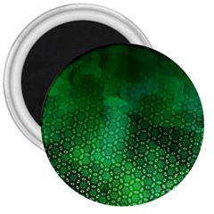Ombre Green Abstract Forest 3  Magnets