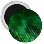 Ombre Green Abstract Forest 3  Magnets Front
