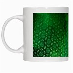 Ombre Green Abstract Forest White Mugs Left
