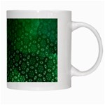 Ombre Green Abstract Forest White Mugs Right