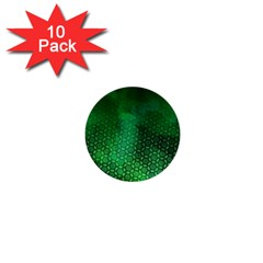 Ombre Green Abstract Forest 1  Mini Buttons (10 Pack)