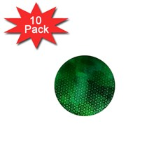 Ombre Green Abstract Forest 1  Mini Magnet (10 Pack)