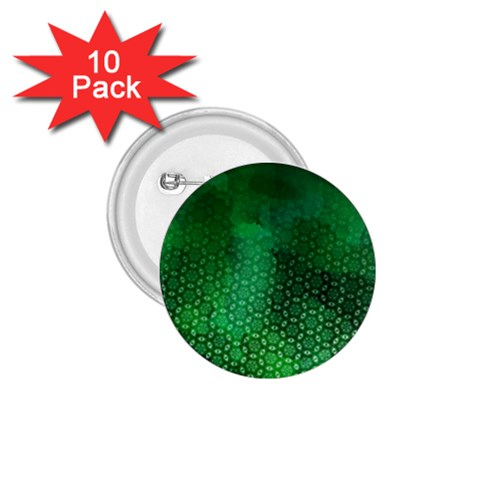 Ombre Green Abstract Forest 1.75  Buttons (10 pack)