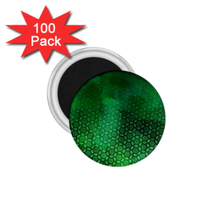 Ombre Green Abstract Forest 1.75  Magnets (100 pack)