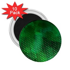 Ombre Green Abstract Forest 2 25  Magnets (10 Pack)