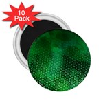 Ombre Green Abstract Forest 2.25  Magnets (10 pack)  Front
