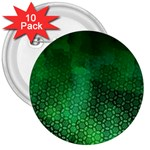 Ombre Green Abstract Forest 3  Buttons (10 pack)  Front