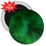 Ombre Green Abstract Forest 3  Magnets (10 pack)  Front