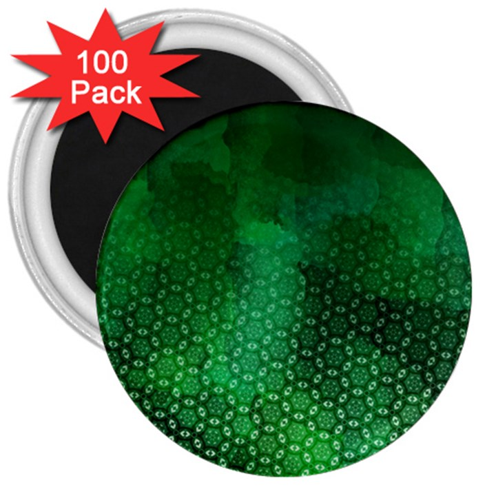 Ombre Green Abstract Forest 3  Magnets (100 pack)
