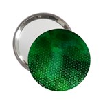 Ombre Green Abstract Forest 2.25  Handbag Mirrors Front