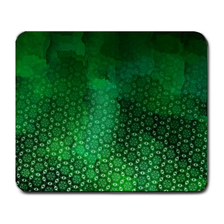 Ombre Green Abstract Forest Large Mousepads