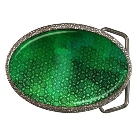Ombre Green Abstract Forest Belt Buckles
