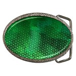 Ombre Green Abstract Forest Belt Buckles Front