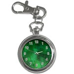 Ombre Green Abstract Forest Key Chain Watches Front