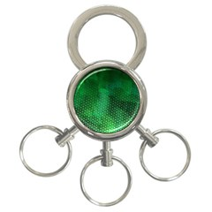 Ombre Green Abstract Forest 3-Ring Key Chains