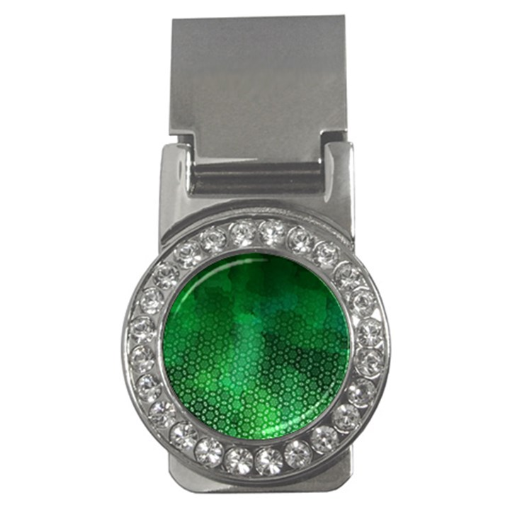Ombre Green Abstract Forest Money Clips (CZ)