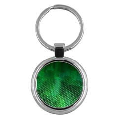 Ombre Green Abstract Forest Key Chains (round)