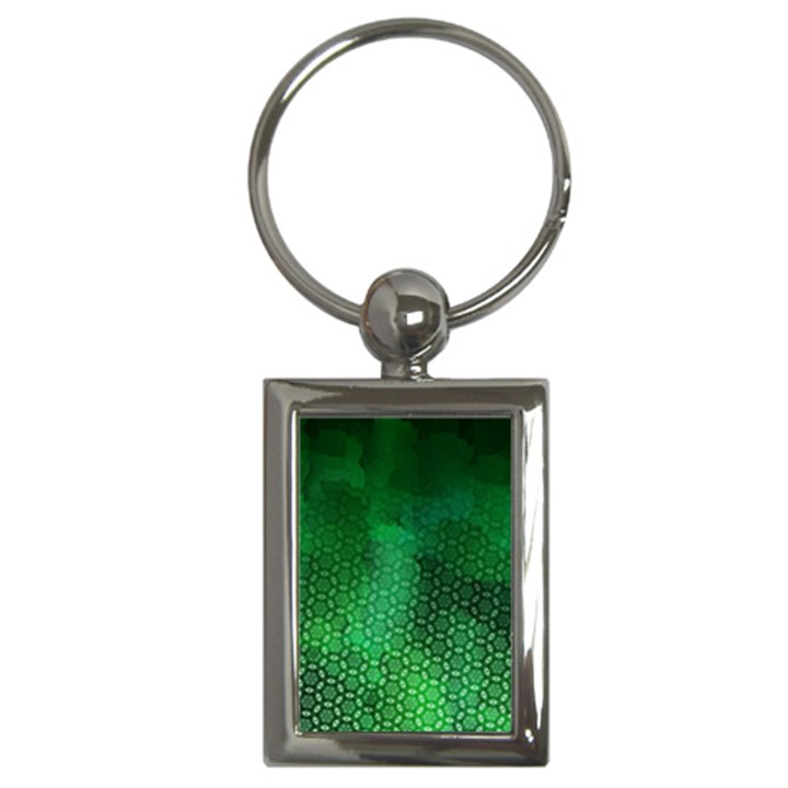 Ombre Green Abstract Forest Key Chains (Rectangle)