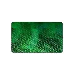 Ombre Green Abstract Forest Magnet (Name Card)