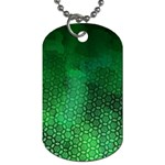 Ombre Green Abstract Forest Dog Tag (One Side) Front