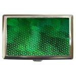 Ombre Green Abstract Forest Cigarette Money Cases Front