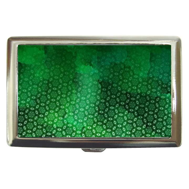 Ombre Green Abstract Forest Cigarette Money Cases