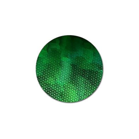 Ombre Green Abstract Forest Golf Ball Marker