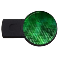 Ombre Green Abstract Forest Usb Flash Drive Round (2 Gb)