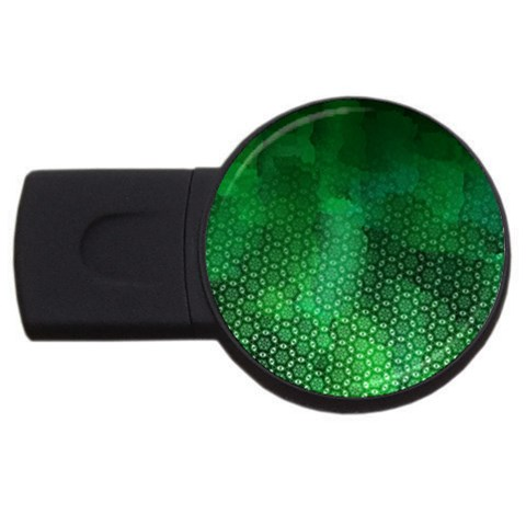 Ombre Green Abstract Forest USB Flash Drive Round (1 GB)