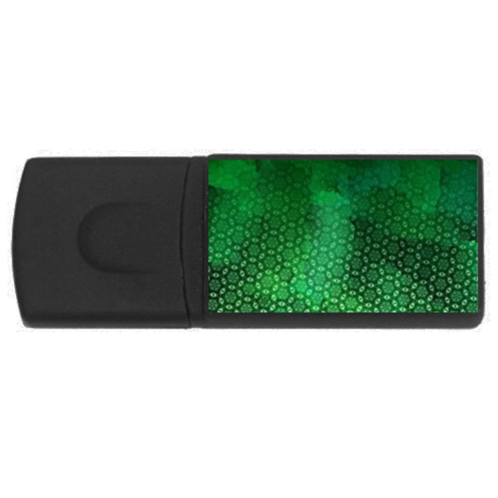 Ombre Green Abstract Forest USB Flash Drive Rectangular (1 GB)