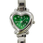 Ombre Green Abstract Forest Heart Italian Charm Watch Front