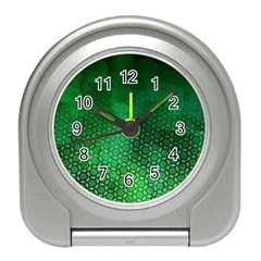 Ombre Green Abstract Forest Travel Alarm Clocks