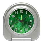 Ombre Green Abstract Forest Travel Alarm Clocks Front