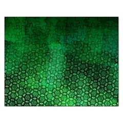 Ombre Green Abstract Forest Rectangular Jigsaw Puzzl