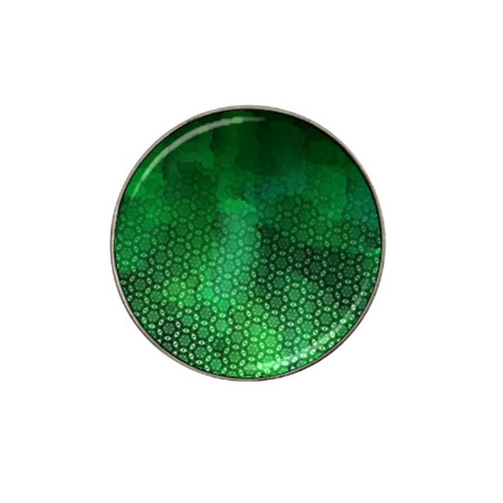 Ombre Green Abstract Forest Hat Clip Ball Marker