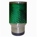 Ombre Green Abstract Forest Travel Mugs (White) Center