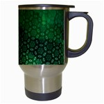 Ombre Green Abstract Forest Travel Mugs (White) Right