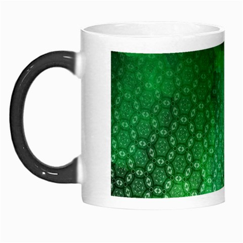 Ombre Green Abstract Forest Morph Mugs