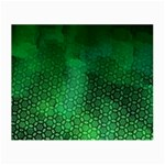 Ombre Green Abstract Forest Small Glasses Cloth Front