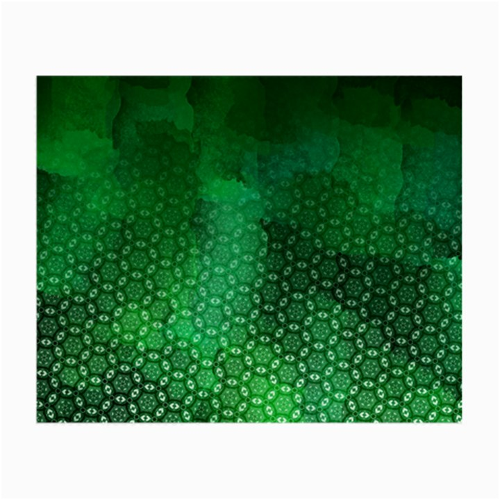 Ombre Green Abstract Forest Small Glasses Cloth