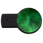 Ombre Green Abstract Forest USB Flash Drive Round (4 GB)  Front