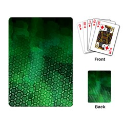 Ombre Green Abstract Forest Playing Card