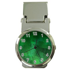 Ombre Green Abstract Forest Money Clip Watches