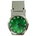 Ombre Green Abstract Forest Money Clip Watches Front