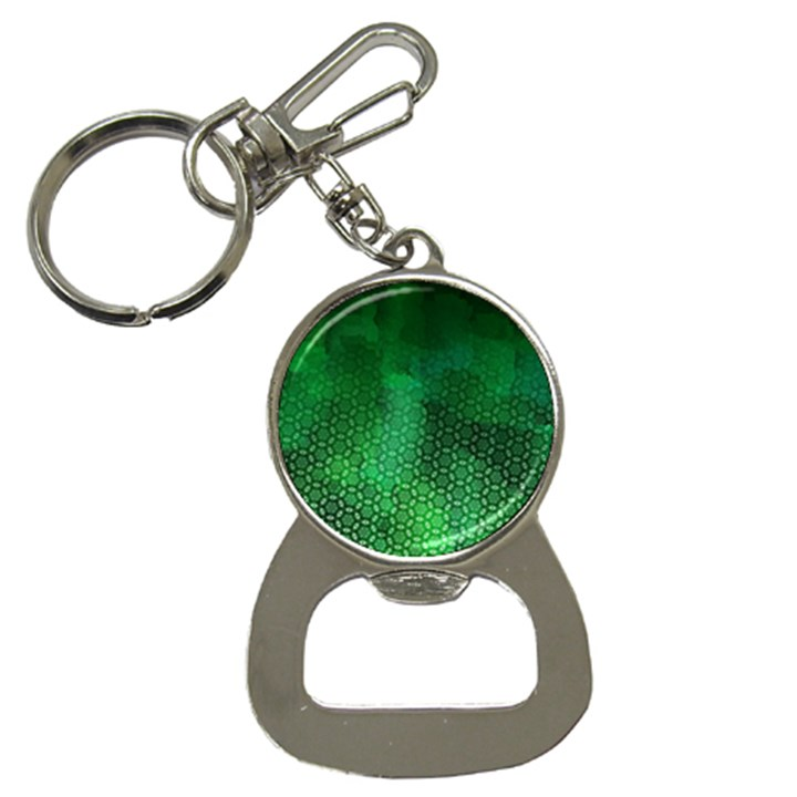 Ombre Green Abstract Forest Bottle Opener Key Chains